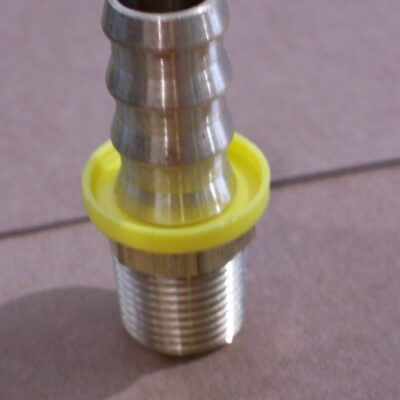"5/8' barb x 1/2"" NPT brass barbed adapter"
