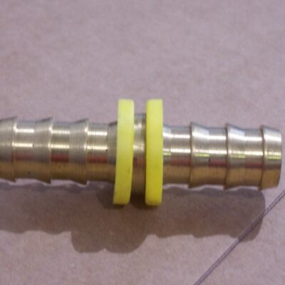 "Barb-Tite push on Brass Mender 5/8"" x 5/8"""