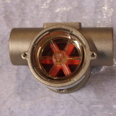 Brass Hi-Vis Rotary Flow Indicator