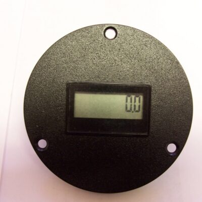 Hour Meter 3-Hole Round LCD